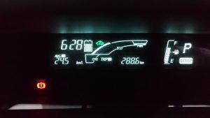 アクアの燃費計