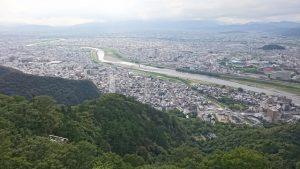 岐阜城から望む長良川